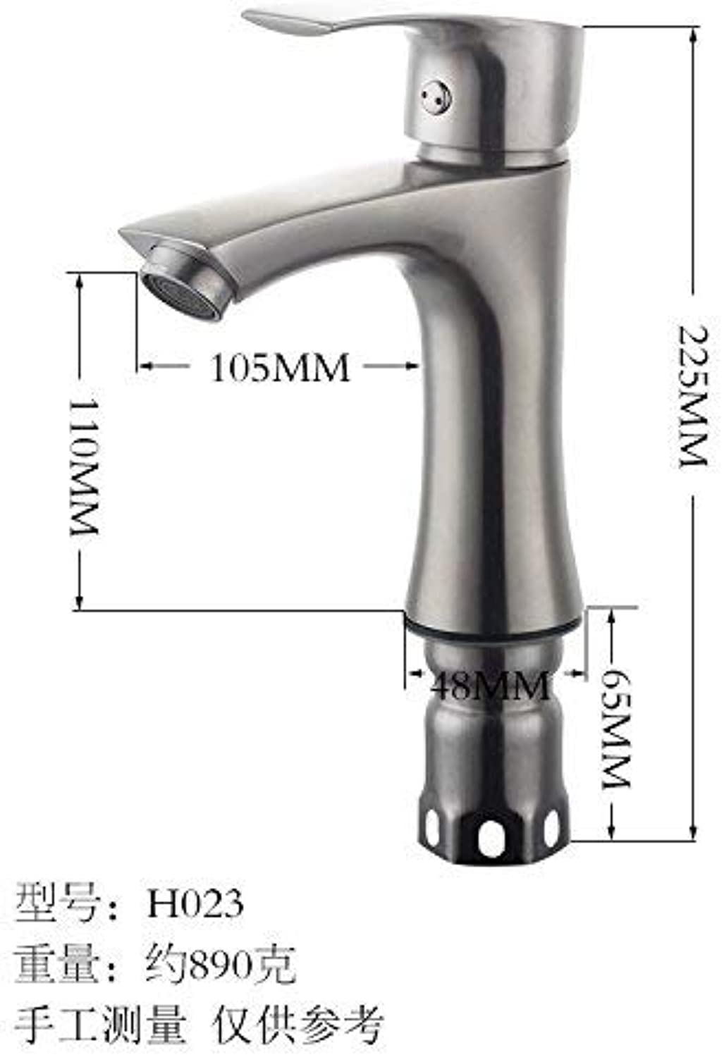 Oudan Modern faucet stainless steel faucet sitting hot and cold basin faucet 3 (color   H023)