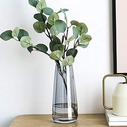 Hey_you Klarglas Vase, Ins Style Irised Kristall dekorative Vase Blumenblume Pflanzenbehälter für Home Office Dekor, Geschenk für Hochzeit Einweihungsparty feiern