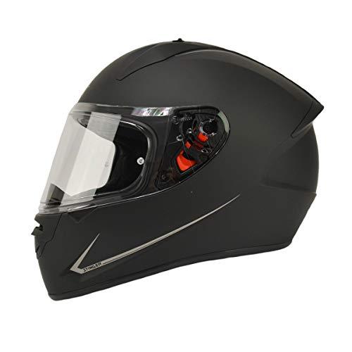 MT Stinger Integralhelm matt schwarz Größe S | Roller/Motorrad Helm Klapphelm 2mm Vizier kratzfest | inkl. eingebaute Lautsprechertaschen und kostenloser Helmmütze