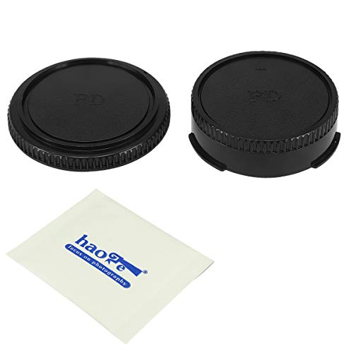 Haoge Camera Body Cap and Rear Lens Cap Cover Kit for Canon FD FL Mount 35mm SLR Film Camera Lens Such as F1 FTB TLb T90 T80 T70 T60 AL-1 AE-1 F-1 AV-1 at-1
