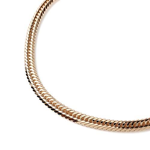 18金 喜平 ネックレス 12面 トリプル 11g - 45cm 中留(中折) ゴールド メンズ レディース チェーン K18 造幣局検定マーク刻印入