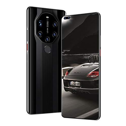LINGZE Smartphones 4G, Móvil Android con Dual SIM Gratis Desbloqueado, Teléfonos con Batería Grande de 6800mAh, Pantalla HD de 7.3 Pulgadas, Huella Dactilar/Desbloqueado por Rostro, Negro
