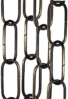3 unidades (3 x 50 cm) colgante de iluminación, espejo o cadena de suspensión de imagen en acabado de latón envejecido