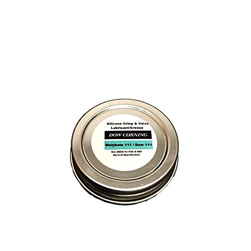 Pilots HQ Dow Corning Molykote 111 Oring/Valve Lubricant/Sealant, 1/2oz (Repackaged for Smaller Applications), Water Resistant Lubricant, Food Grade Lubricant, Dow 111 -  DC111-1/2oz