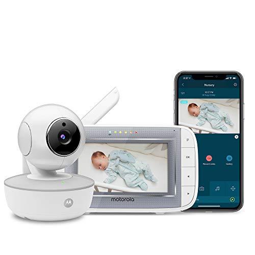 Motorola MBP846CONNECT Video-Babyphone mit 10,9 cm (4,3 Zoll) Handheld-Einheit und WLAN-Hubble-App für Smartphones und Tablets