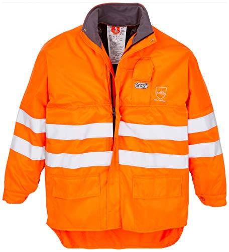 Snijbestendige jas oranje XL