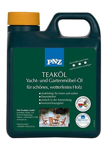 PNZ Teak-Öl W (Yacht- und Gartenmöbelöl), Gebinde:1L, Farbe:teakfarben