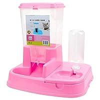 Shefure ペットの自動フィーダー犬猫の飲酒ボウルのために犬の水を飲む猫大容量ディスペンサーペット給餌 自動給餌器 (Color : Pink)