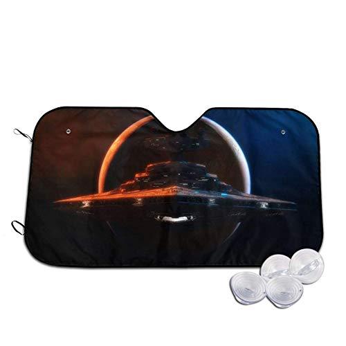 AEMAPE Star War Nave Espacial Parabrisas Parasoles Bloques Rayos UV Visera Plegable para el Sol, Protector Universal de la Cubierta del Escudo de Las sombrillas del Coche