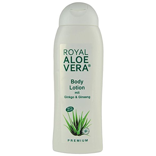 Royal Aloe Vera Body Lotion mit Ginko, Ginseng, 60% Bio Aloe, Körper Lotion