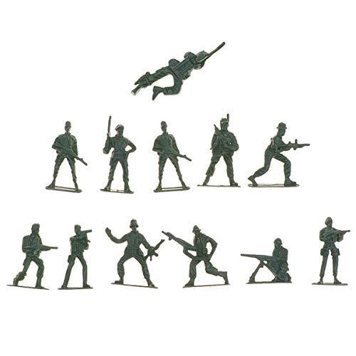 Toyvian Mini Plastik Militär Soldaten Spielzeug Set Armee Männer Figuren Zubehör 144 Stücke