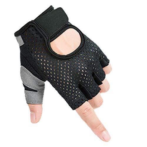Guantes de fitness ligeros de verano, guantes de entrenamiento transpirables de silicona antideslizante