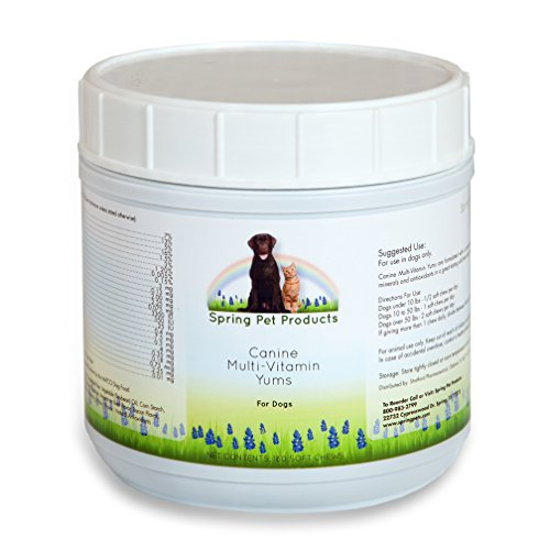 Spring Pet Dog Multi Vitamins & Supplements for Dogs 180 Count - Puppy, Senior, Agility, Working Canines Soft Chewable Tabs - Minerals Plus Vitamin E -Skin...