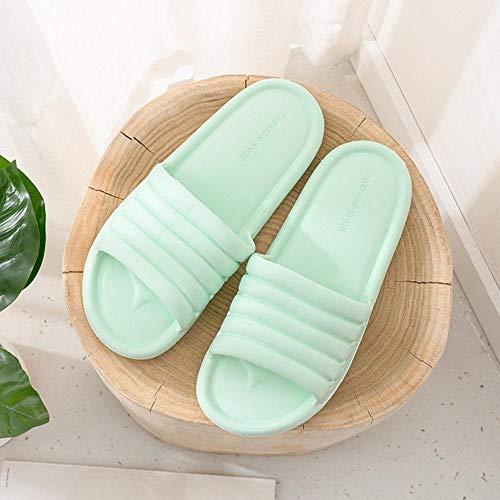 Zapatillas Unisex Mujer Hombre Zapatos Verano Baño Zapatillas Amantes Sandalias de Interior Moda Zapatillas de casa Chanclas de Piso Antideslizantes-Verde Menta, 41