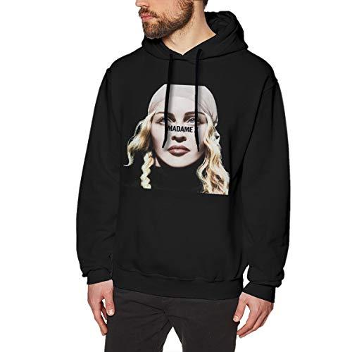 DeyAope Madonna Madame X (Deluxe) Männer Lässiges Hoodie-Kapuzenpullover Mit Kordelzug Black M