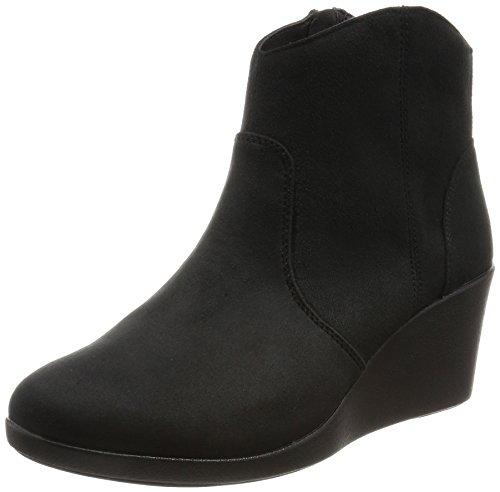 [クロックス] ブーツ レイ シンセティック スエード ウェッジ ブーティ ウィメン Black 22.5 cm