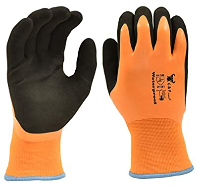 G & F Products 100% Waterproof Winter Gloves for outdoor cold weather Double Coated Windproof HPT Plam and Fingers Acrylic Terry inner keep hands warm at -58F Large (1628)