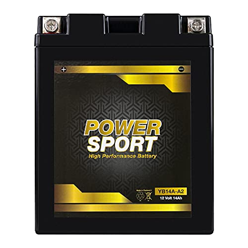 ExpertPower EB14A-A2 YB14-A2 12V14Ah Replacemnt Battery BTX14AH-BS, YTX14AH-BS, UB14-A2, YB14-B2