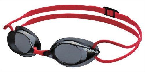 SWANS(スワンズ) 競泳用 スイミング ゴーグル SR-1 ノンクッション FINA承認モデル SR-1NEV ダークスモーク(DSMK)