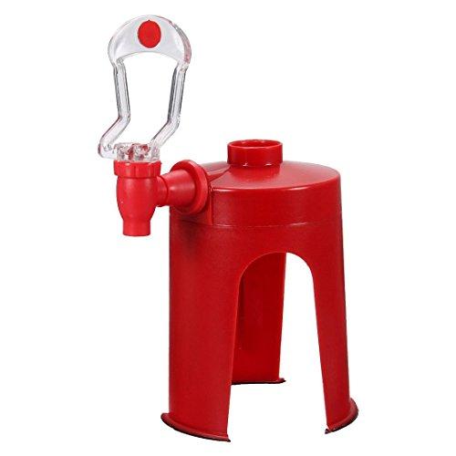 SODIAL(R) Soda Dispenser Fizz Dispenser Drink Spender Wasserspender Party Cola Sprite, Rot
