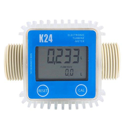Digital Flow Meter,Professional K24 Turbine Digital Diesel Fuel Flow Meter For Chemicals Water