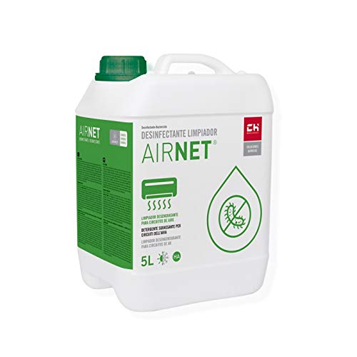 CH Quimica Limpiador desinfectante AIRNET en garrafa de 5l para Equipos de Aire Acondicionado