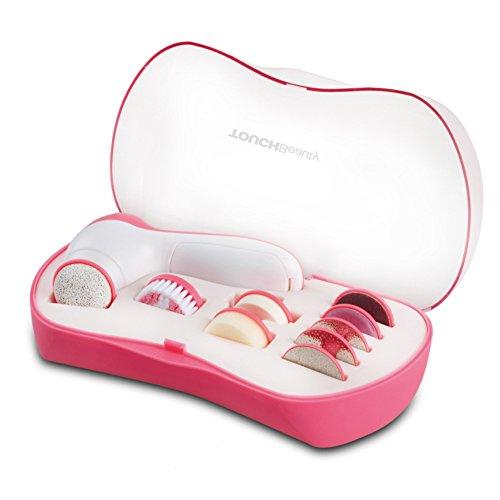 Beauty Touch Estuche Eléctrico de Belleza y Limpieza 9 En 1, color Rosa - 10 Piezas