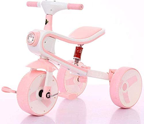 SXXYTCWL Children's Training Vehicle Frame Stroller 3 in 1 Tricycle Baby Stroller Child Bike 1-2-5-6 Years Old Child Scooter Boy and Girl Tricycle 7-4,Pink jianyou (Color : Pink)