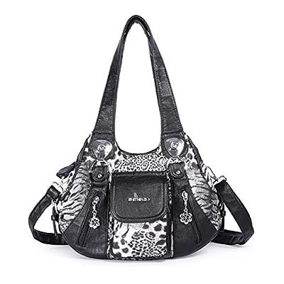 Angel Barcelo Handbags Women Soft Leather Satch...