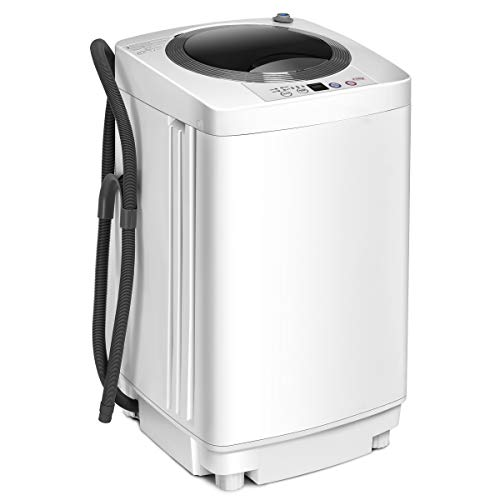 COSTWAY 2 in 1 Portable Washing Machine - 6 Modes, Adjustable Water Level, Fully Automatic Compact...