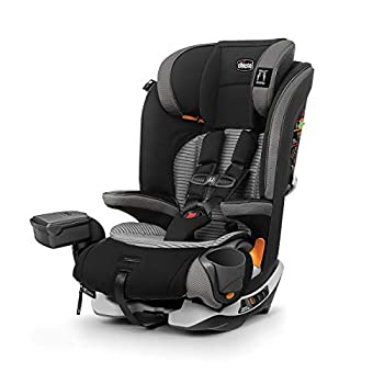 Chicco MyFit Zip Air 2-in-1 Harness + Booster Car Seat for Toddlers and Big Kids 5-Point Harness Belt-Positioning Booster Zip-and-Wash Fabrics 3D AirMesh for Breathability Q Collection Black