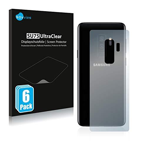 savvies 6-Pezzi Pellicola Protettiva Compatibile con Samsung Galaxy S9 Plus (Posteriore) Protezione Schermo Trasparente