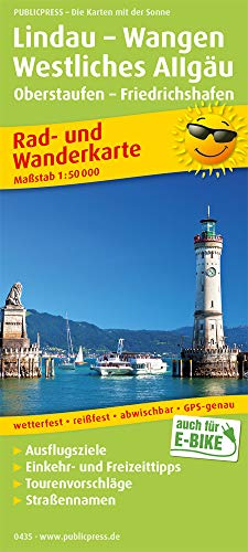 Lindau - Wangen, Westliches Allgäu, Oberstaufen - Friedrichshafen: Rad- und Wanderkarte mit Ausflugszielen, Einkehr- & Freizeittipps, wetterfest, ... 1:50000 (Rad- und Wanderkarte / RuWK)