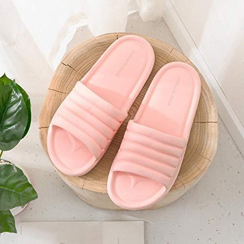 Zapatillas Unisex Mujer Hombre Zapatos Verano Baño Zapatillas Amantes Sandalias de Interior Moda Zapatillas de casa Chanclas de Piso Antideslizantes-Rosa, 41
