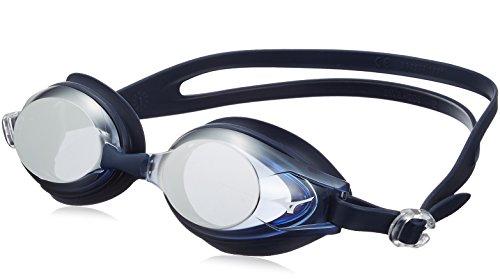 MIZUNO(ミズノ) スイムゴーグル クッションタイプ N3JE601114 ブルー×シルバーミラー