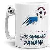 Tassendruck Fussball-Tasse mit Spruch - Los canaleros - Fussball-Tasse Fahne/Länderfarbe/WM 2018/Panama 2/Weltmeisterschaft/Cup/Tor/Qualität Made in Germany