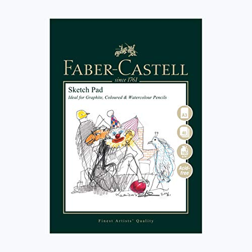 Faber-Castell Art & Graphic Skizzenblock, A3 160 g / m2 Block mit 40 Blatt