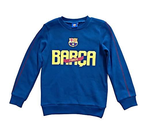 Barça Jungen Sweatshirt Blau blau, Blau 6 Jahre