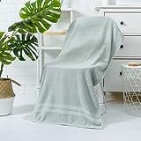 RUONING Toalla de baño suave de algodón puro, gruesa y agrandar las toallas de baño que absorben el agua y no derraman el pelo (70 x 140 cm)