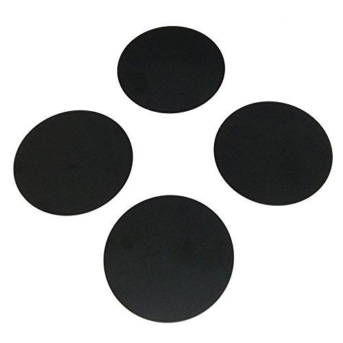 COLICO Metallplatte Metallplättchen (4 Stück) 3M-Rückseite für Magnet KFZ handyhalterung(schwarz)