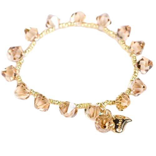 Kleshna CL3645 Honig-braunes Maya-Armband, dehnbar mit Swarovski Kristallen besetzt