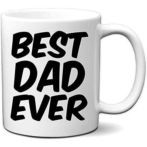 Best Dad Ever Coffee Mug Gran taza de regalo para papá para el día del padre Novedad Taza blanca de 11 oz