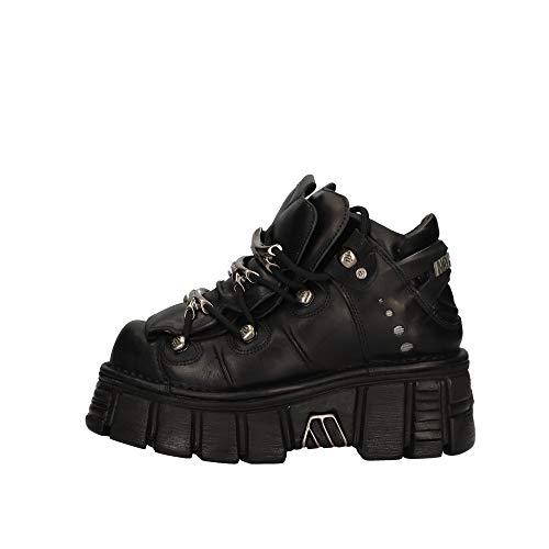 New Rock Zapatos Con Cordones De Mujer M-106-C66 Talla 38 Negro