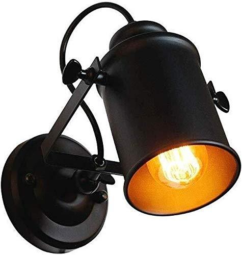Wandlamp, zwart, metaal, industrieel, studiohouder, verstelbaar, lampenkap