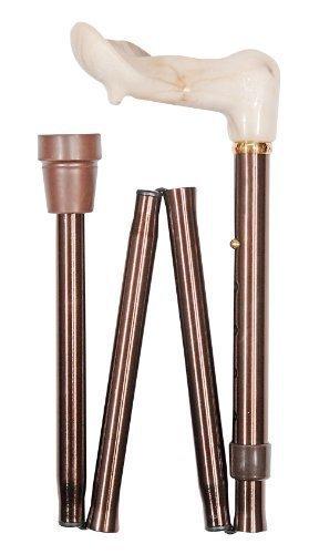 Plegable ajustable para diestros ortopédica cane incluye cinta muñequera para