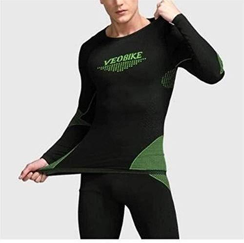 WYYH Conjunto de Ropa Interior térmica para Hombre,Térmicos para Transpirable Secado Rápido Camiseta Térmica Hombre Manga Larga Pantalones Largos para Carrera Esquí y Fitness