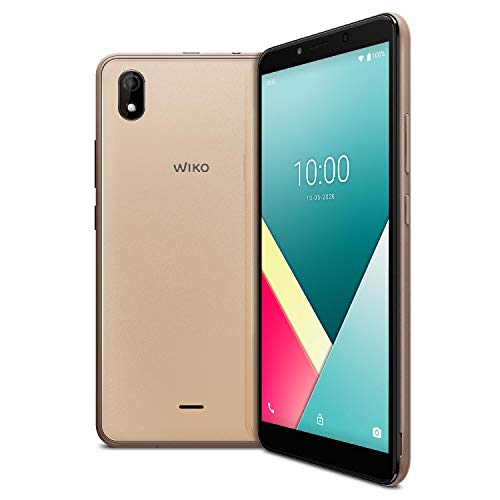 Wiko WIKO Y61 Smartphone, 6 Zoll (15,24 cm), 4G, Dual-SIM, Android 10, Gold [Import Ware], WIKY61WK560GOLST