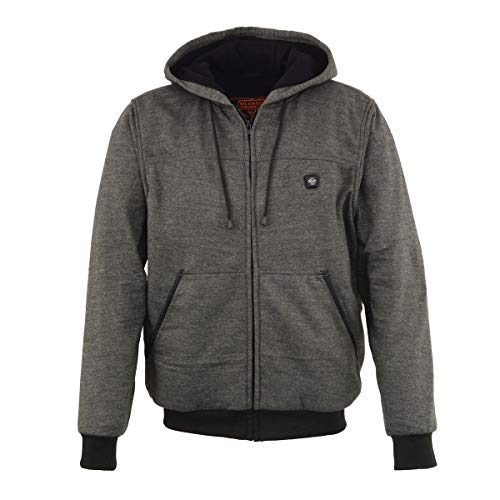 Milwaukee Leather MPM1713 Men's Grey Hoodie with Front and Back Heated Elements - 2X-Large