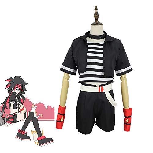 CGBF -Adultos Aotu World Anime Game Riena Cosplay disfraz para Halloween, carnaval, cmics, exposicin, fiesta temtica, disfraz de uniforme de disfraces, negro, L