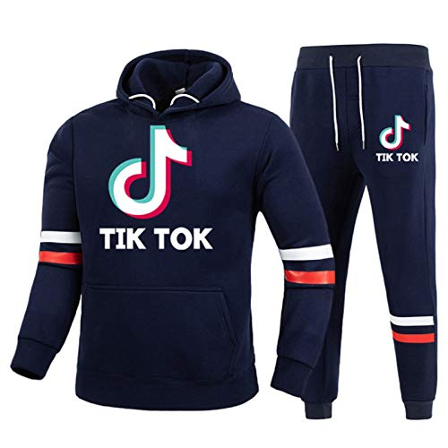NIGHTMARE Sweatshirt Pullover Fans Tops Outdoor Sport Pullover Sweatshirt Tik Tok Sportswear Anzug Navy blau XXL